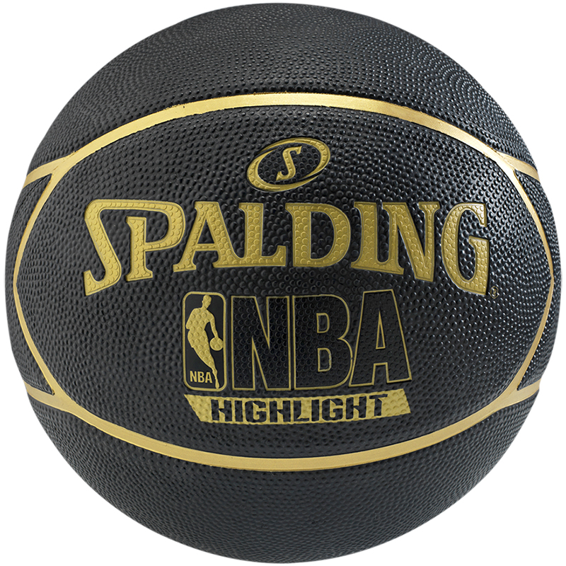 Spalding NBA Highlight Black Gold Basketball • RJM Sports 1203d8f1c