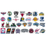 Spalding NBA Slam Jam Board Teams Logo stickers