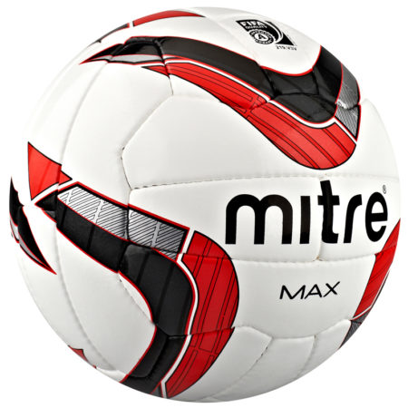 Mitre Max Football 2014-2015 White Red Black