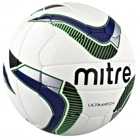 Mitre Ulitmatch Football 2014-2015 White/Blue/Green/Silver