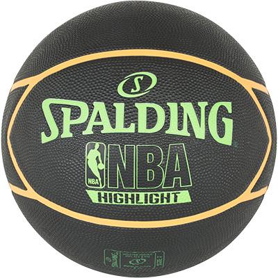 Spalding NBA Highlight Black Neon Green Orange Basketball