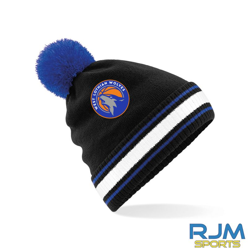 WLW Bobble Hat Black Royal White