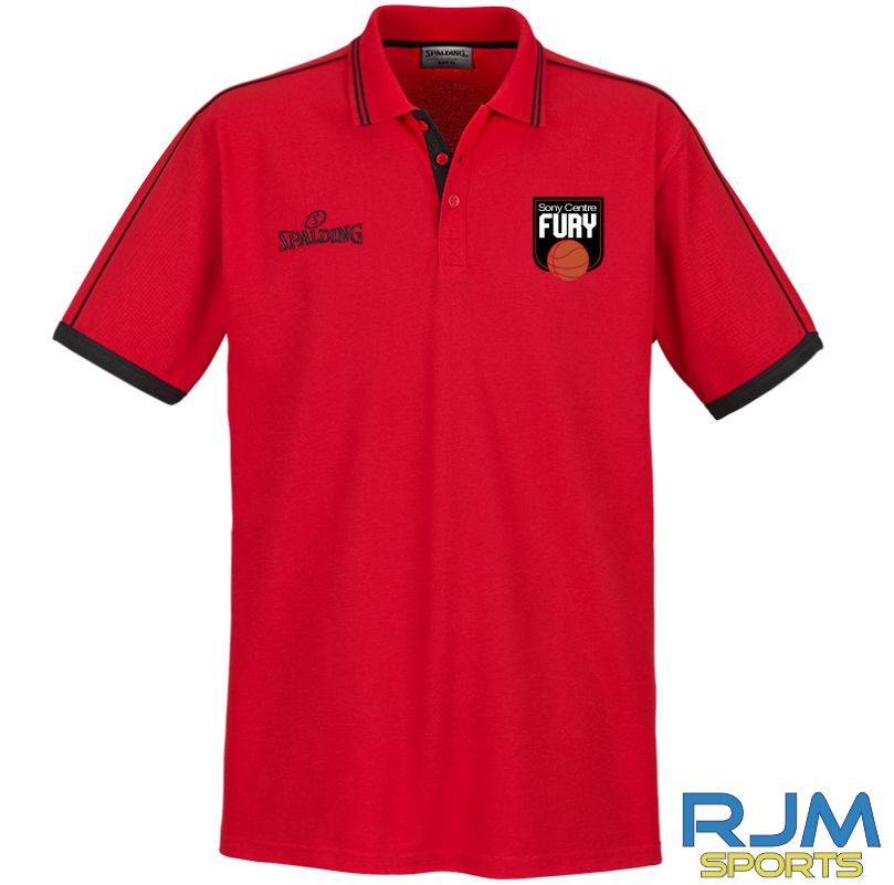 Falkirk Fury Polo Shirt Red Black