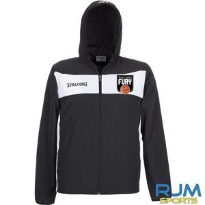 Falkirk Fury Evolution ll Woven Jacket with Hood Black White