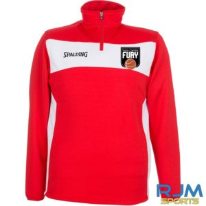 Falkirk Fury Evolution ll 1/4 Zip Top Red White