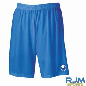 Cumbernauld Colts Home Uhlsport Centre Basic Shorts Without Inner Slip Azure Blue