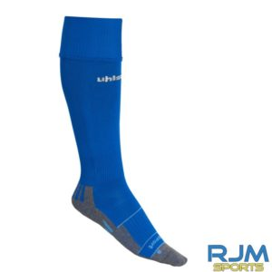Cumbernauld Colts Home Uhlsport Team Pro Player Socks Azure Blue White