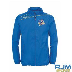 Cumbernauld Colts Uhlsport Stream 3.0Rain Jacket Azure Blue Corn Yellow