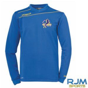 Cumbernauld Colts Uhlsport Stream 3.0Sweatshirt Azure Blue Corn Yellow