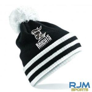Stirling Knights Bobble Hat Black White