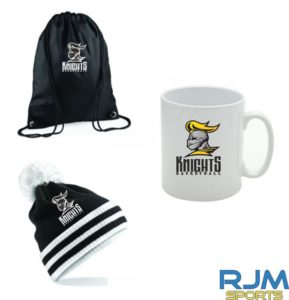 Stirling Knights Combo Deal Mighty Mug, Bobble Hat & Draw String Bag