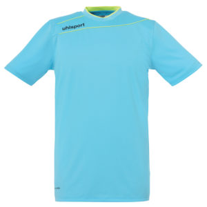 uhlsport Stream 3.0 Goalkeeper Shirt Short Sleeved Ice Blue Fluo Yellow