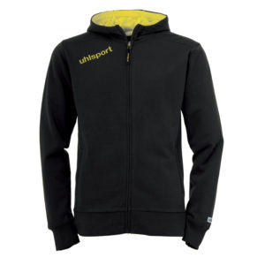 uhlsport Essential Hood Jacket Black Corn Yellow