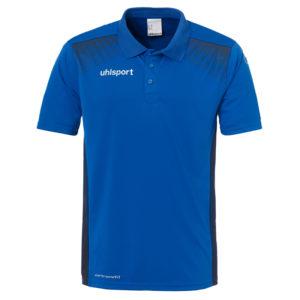 uhlsport Goal Polo Shirt Azure Blue Navy