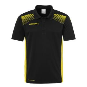 uhlsport Goal Polo Shirt Black Lime Yellow