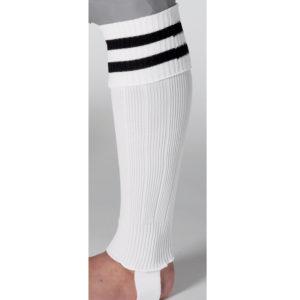 uhlsport Hooped Shinguard Socks White Black