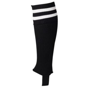 uhlsport Hooped Shinguard Socks Black White