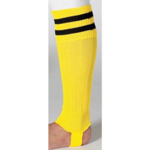 uhlsport Hooped Shinguard Socks Yellow Black