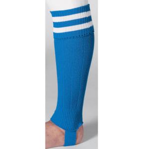 uhlsport Hooped Shinguard Socks Blue White