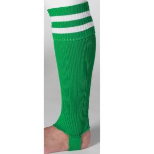 uhlsport Hooped Shinguard Socks Green White