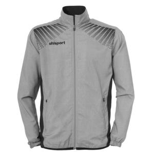 uhlsport Goal Presentation Jacket Dark Melange Grey Black