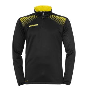 uhlsport Goal Quarter Zip Top Black Lime Yellow