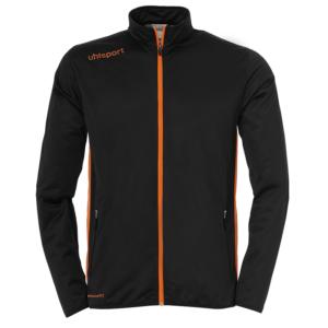 uhlsport Essential Tracksuit Black Fluo Orange Jacket