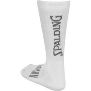 Spalding Coloured Socks White Silver Grey Back