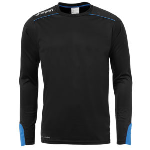 uhlsport Tower Goalkeeper Shirt Long Sleeved Black Energy Blue
