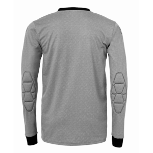 uhlsport Goal Goalkeeper Shirt Long Sleeved Dark Grey Melange Black Back