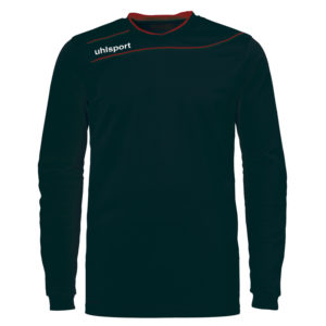 uhlsport Stream 3.0 Goalkeeper Shirt Long Sleeved Black Red