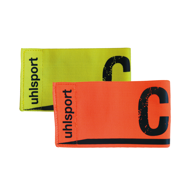uhlsport Captains Armbands Fluo Yellow Shock Red