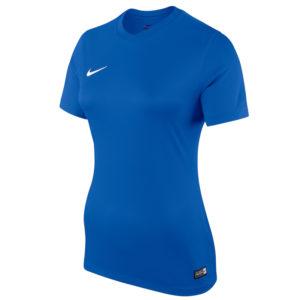 Nike Womens Park Jersey Short Sleeve Shirt Royal Blue
