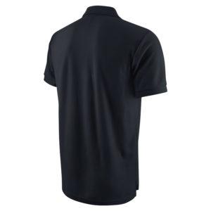 Nike Team Core Polo Black White Back