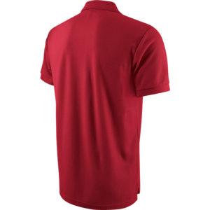Nike Team Core Polo Red White Back