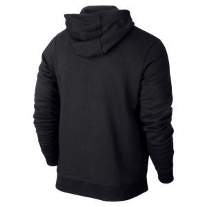 Nike Team Club Full Zip Hoody Black Black Back