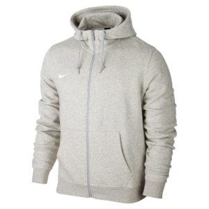 Nike Team Club Full Zip Hoody Grey Heather Football White