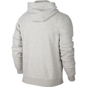 Nike Team Club Full Zip Hoody Grey Heather Football White Back