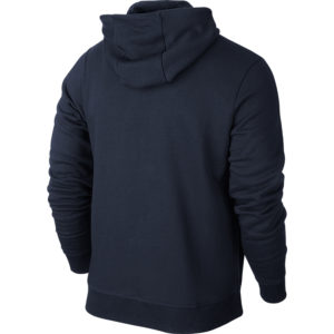 Nike Team Club Full Zip Hoody Obsidian Football White Back