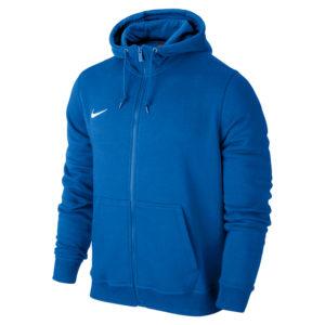Nike Team Club Full Zip Hoody Royal Blue Football White