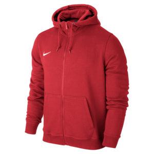 Nike Team Club Full Zip Hoody University Red Football White