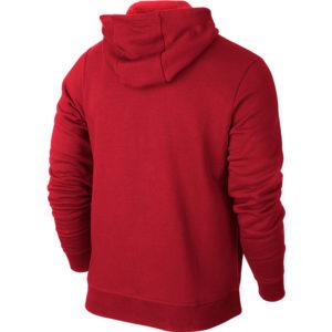 Nike Team Club Full Zip Hoody University Red Football White Back