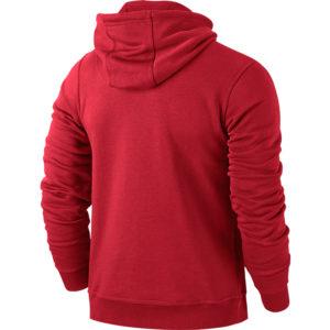 Nike Team Club Hoody University Red Football White Back