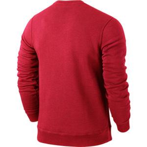Nike Team Club Crew University Red Football White Back