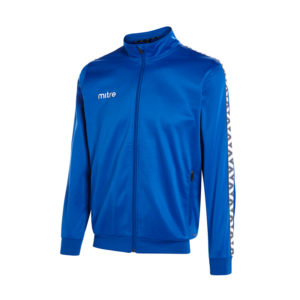 Mitre Delta Poly Track Jacket Royal White