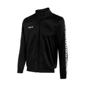 Mitre Delta Poly Track Jacket Black White