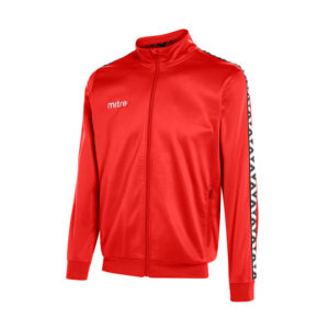 Mitre Delta Poly Track Jacket Scarlet White