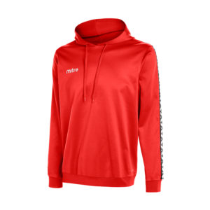 Mitre Delta Poly Hoody Scarlet White