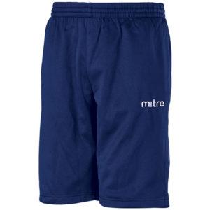 Mitre Primero Poly Training Shorts Navy