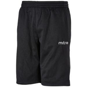 Mitre Primero Poly Training Shorts Black